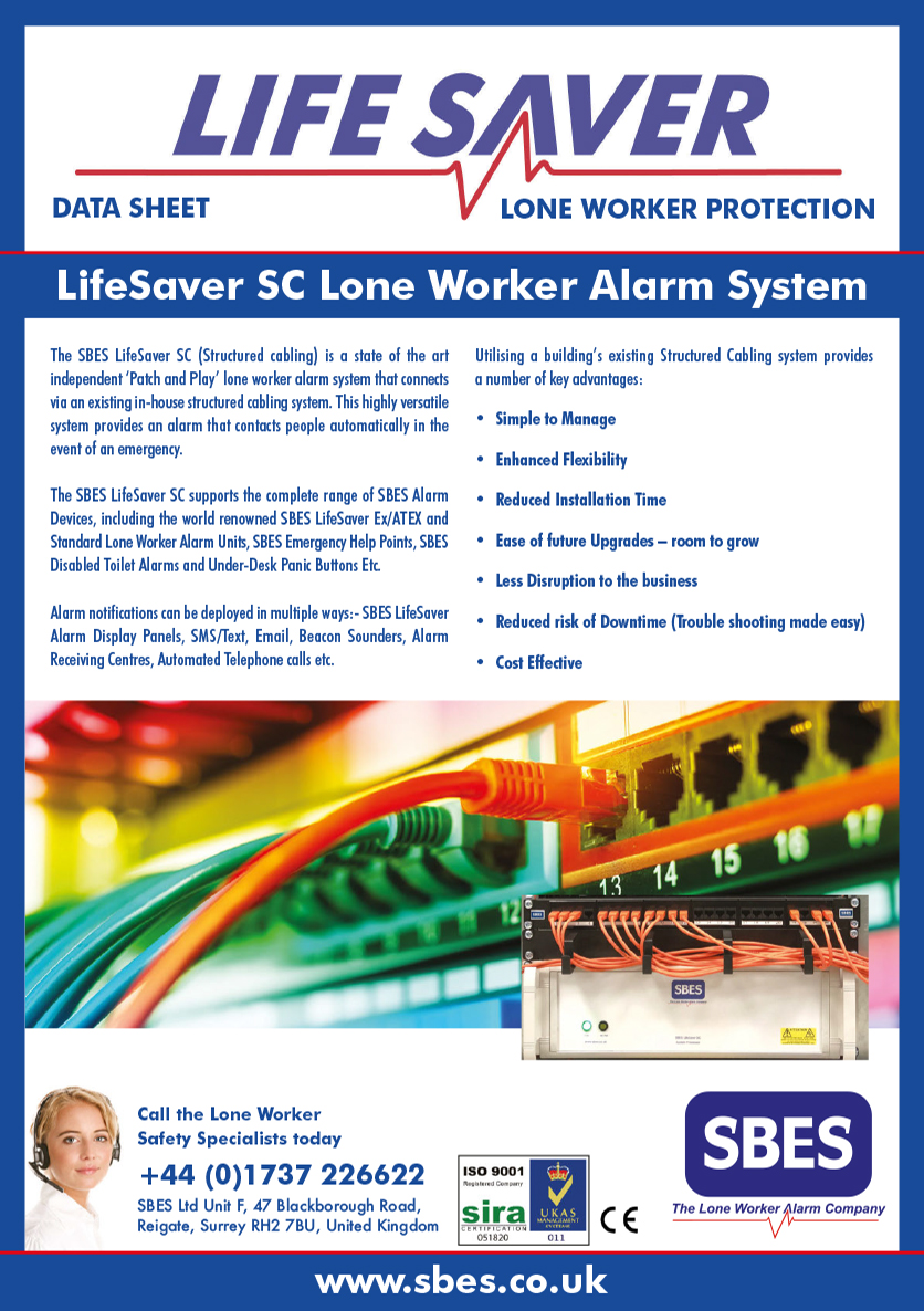 SBES LifeSaver SC Lone Worker Alarm System